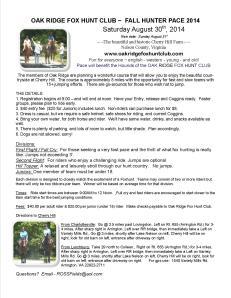 2014 hunter pace fall cherry hill